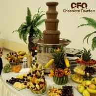 4 Tiers Large Commercial Chocolate Fountain Machine