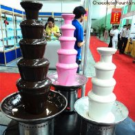4 & 5 Tiers Large Commercial Chocolate Fountain Machine for sales